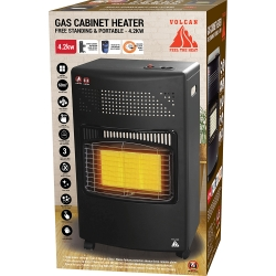 4.2KW  FREE STANDING & PORTABLE GAS CABINET HEATER