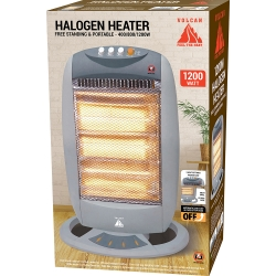 1200W FREE STANDING & PORTABLE HALOGEN HEATER
