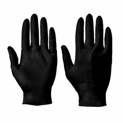 BLACK NITRILE LATEX GLOVES 100