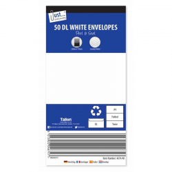 50DL ENVELOPES PEEL + SEAL 220X110MM