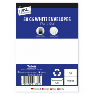 50 C6 WHITE PEEL+SEAL ENVELOPE