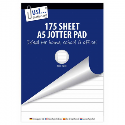 175 SHEET A5 JOTTER PAS **EACH**