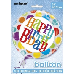 "18"" Dot Birthday Foil Balloon"