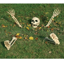 5PC GARDEN SKELETON HALLOWEEN DECOR