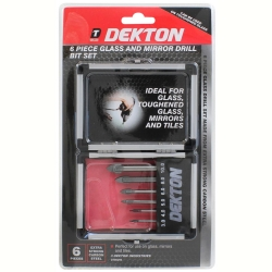 DEKTON 6PC GLASS DRILL SET