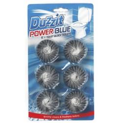 DUZZIT POWER BLUE TOILET TABLETS X6
