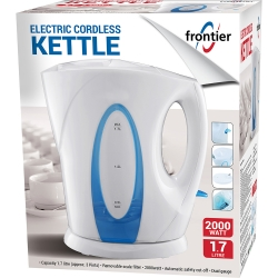 1.7LTR 2000W ELECTRIC CORDLESS KETTLE WHITE
