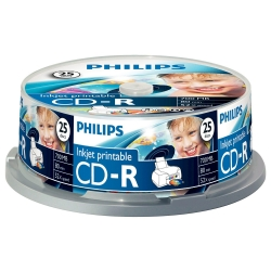 Philips CD-R 80Min 700MB 52x IW 25SP