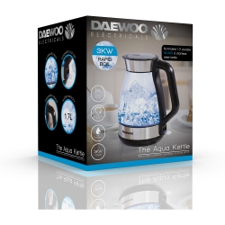 ILLUMINATING LED GLASS KETTLE WITH 360 DEGREE ROTATIONAL BASE, 3000W, 1.7LTR
