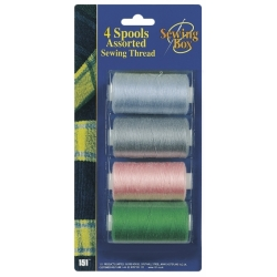SPOOLS ASSORTED SEWING THREADS
