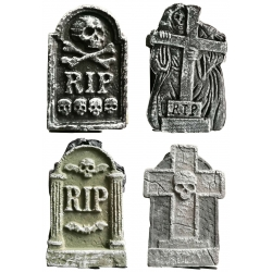 TOMBSTONE HALLOWEEN DECORATION 4 ASST