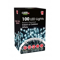 100 LED TIMER LIGHTS C/WHITE