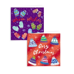 COSY XMAS  - 10 SQUARE CARDS