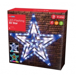 LED SILHOUETTE STAR WBW