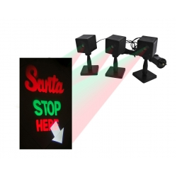 LED SANTA STOP HERE PROJECTION