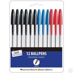 12 Assorted Ballpoint Pens