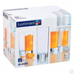 LUMINARC ISLANDE GLASS 6PCS
