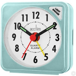 ACCTIM INGOT QUARTZ ALARM CLOCK - BLUE