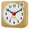 ACCTIM INGOT QUARTZ ALARM CLOCK - BROWN