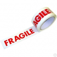 FRAGILE PRINTED TAPE 40M