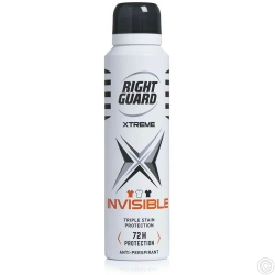 RIGHT GUARD BODY SPRAY 150ML - XTREME- INVISIBLE