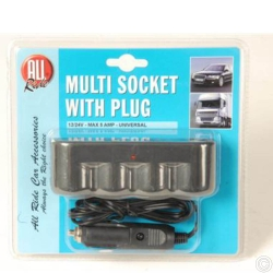 MULTI-SOCKET W/PLUG 12/24V