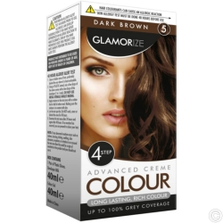 GLAMORIZE PERMANENT HAIR COLOUR - DARK BROWN