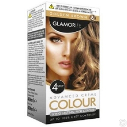 GLAMORIZE PERMANENT HAIR COLOUR - GOLDEN BROWN