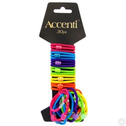 ACCENTI FUNKY HAIR BANDS  30PK