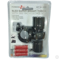 BICYCLE FLASH LIGHT 9 LED