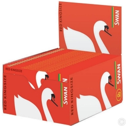 SWAN RED KINGSIZE SLIM 50s PAPER