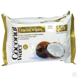 COCONUT WATER FACIAL WIPES TWIN PK