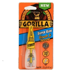 GORILLA SUPER GLUE BRUSH+NOZZLE 12G