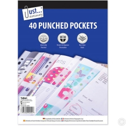 40 Clear plastic Punched pockets