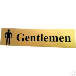 SIGN SELF ADHESIVE - GENTLEMAN