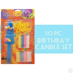 BIRTHDAY CANDLE SET 50PC