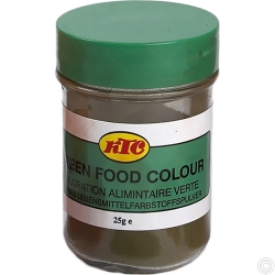 KTC GREEN FOOD COLOUR 12x25G - NO VAT