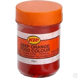 KTC ORANGE FOOD COLOUR 12x25G - NO VAT
