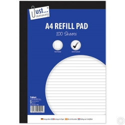 A4 lined Refill Pad 100 53gsm Sheet Side bound