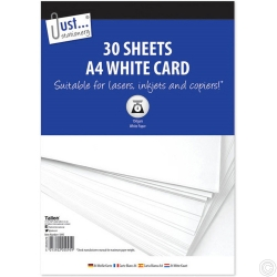 A4 WHITE CARD 30 X 150 GSM SHEETS