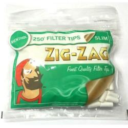 ZIG-ZAG MENTHOL 250 SLIM  FIL TIPS