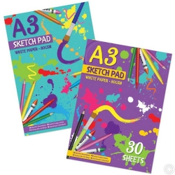 A3 30 Sheet Sketch Pad 2 designs