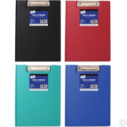 Vinyl Clipboard & Cover Black Blue Red green Blue Red green