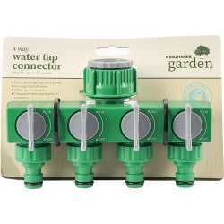 4 Way Water Tap Connector