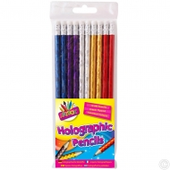10 Holographic HB Pencils