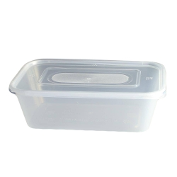 650CC PLASTIC CONTAINER+LID 5PC
