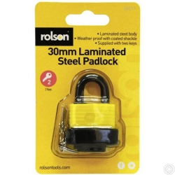 ROLSON 30MM LAMINATED PADLOCK