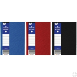 A4 Ruled Hardback Book Red, Blue, Black