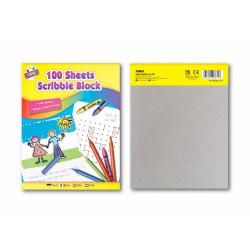 100 Sheet Scribble Block 176 X 226mm.