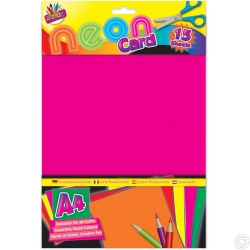 15 SHEETS A4 NEON CARD